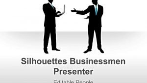 Editable PowerPoint Illustrations Businessman Silhouettes