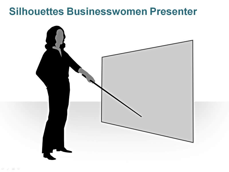 Editable PPT of Business Women Silhouettes
