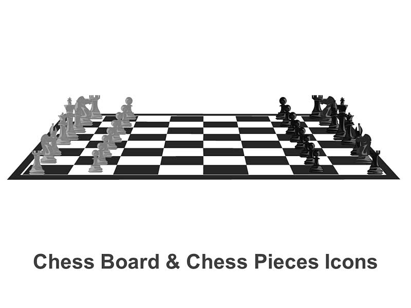 Chess Icons Editable PowerPoint Illustration