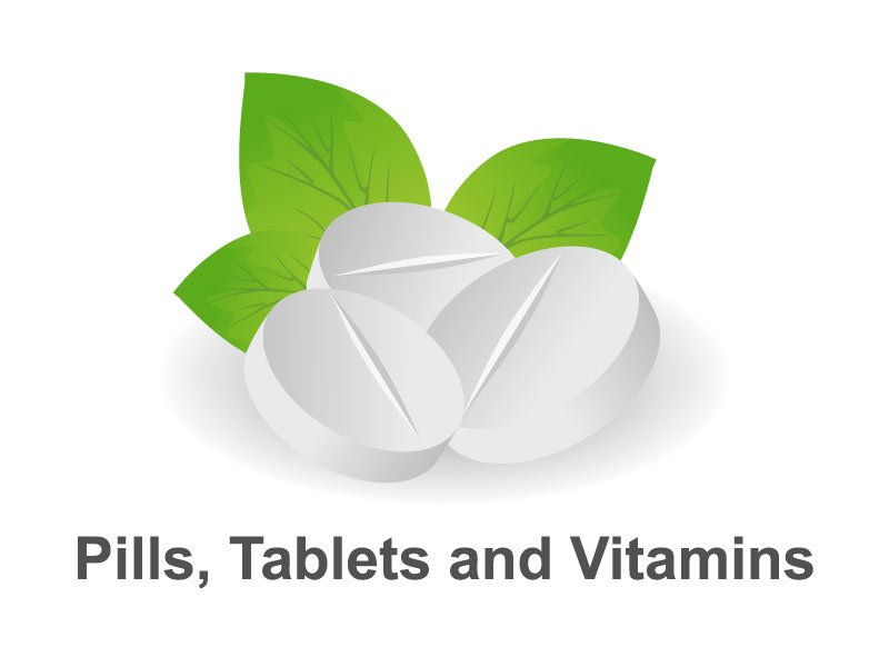 Pills, Tablets and Vitamins - Editable PPT Presentation