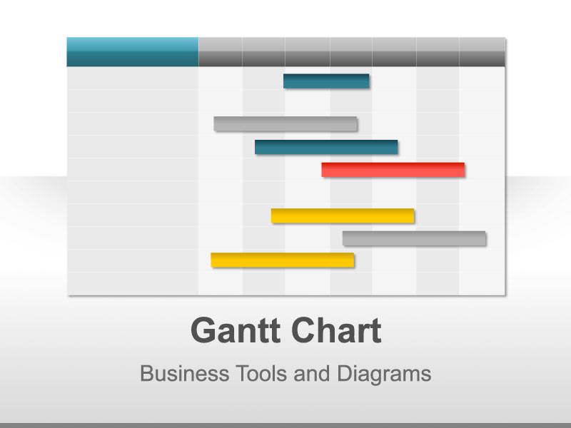 Gantt Chart Template for PowerPoint Presentation