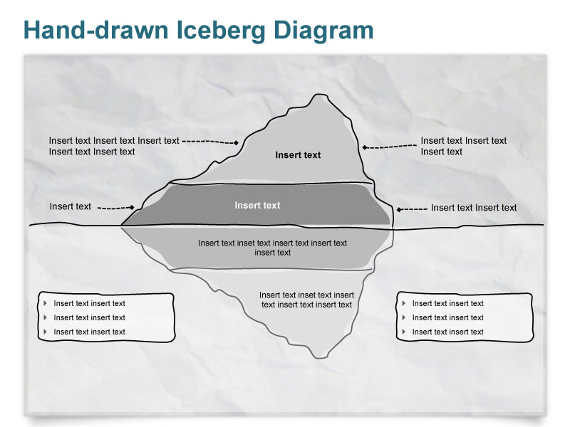 PPT Slides Hand-drawn Iceberg Diagram
