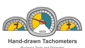 Hand-drawn Tachometer Diagram - Editable PowerPoint Template