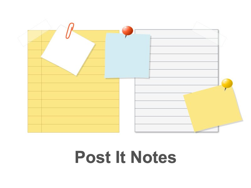 Post It Notes PowerPoint Presentation