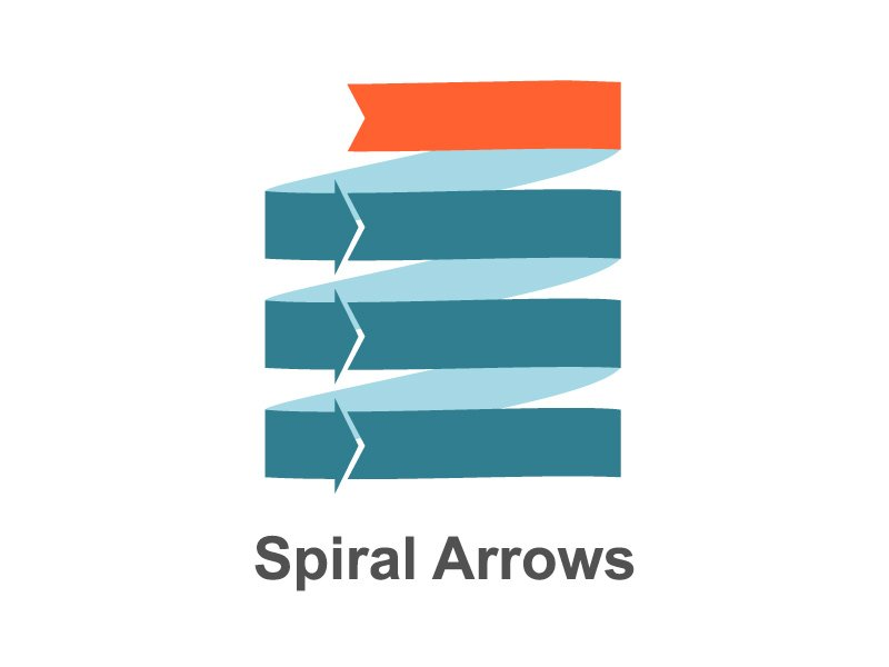 Fully Animated Spiral Arrows Diagram for PowerPoint - Title Slide