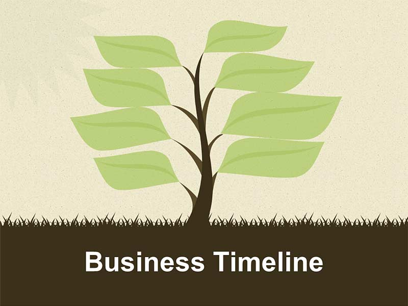 Business Timeline - Editable PowerPoint Template