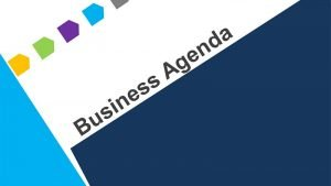 Business Agenda Template for PowerPoint Presentations