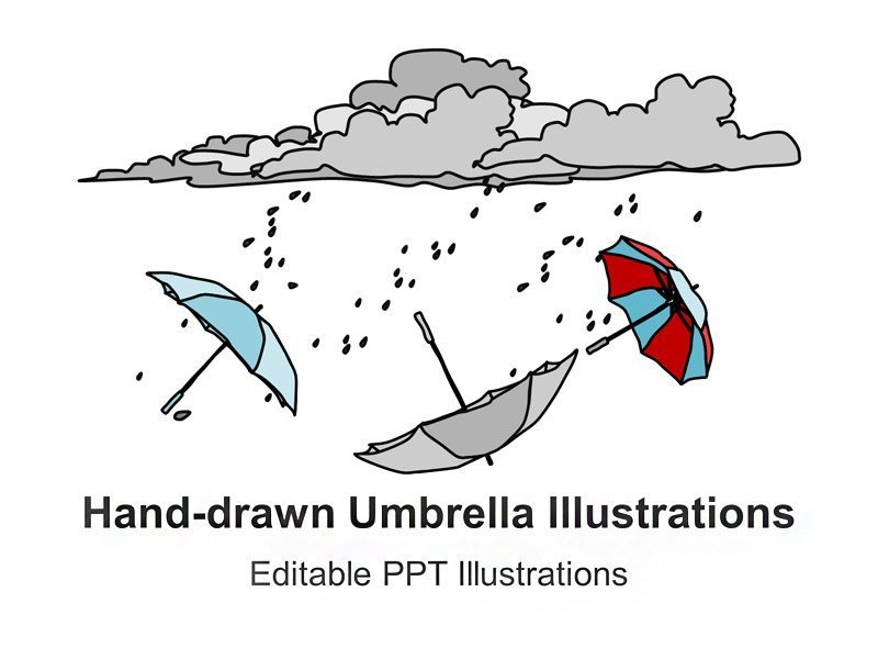 Umbrella Illustration - Title Slide