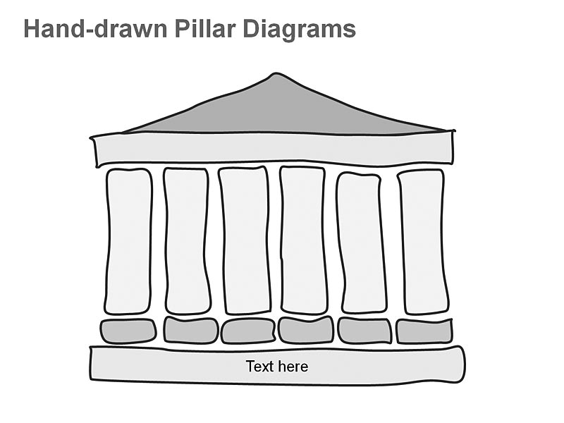 Greek Pillar Diagrams - Vector Graphics