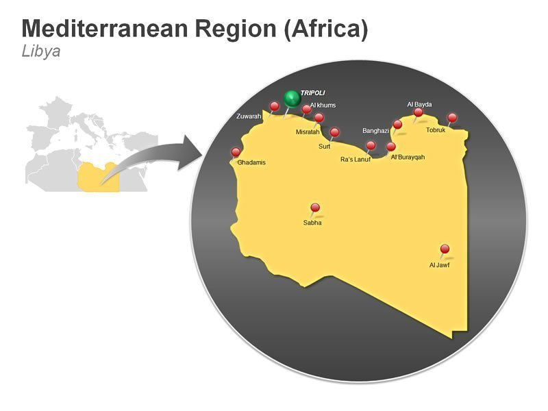Editable PPT Presentation of Mediterranean Region of Libya