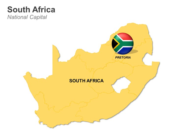 Editable Map of South Africa