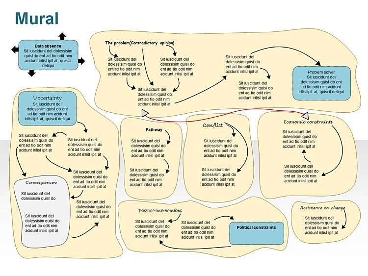 Decision Making Process PowerPoint Illustration