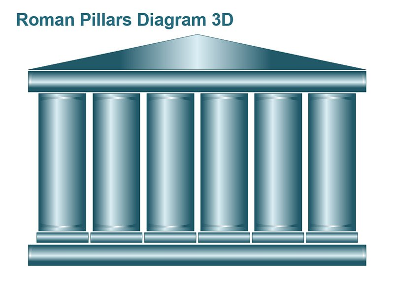Pillars of Excellence PowerPoint Graphics