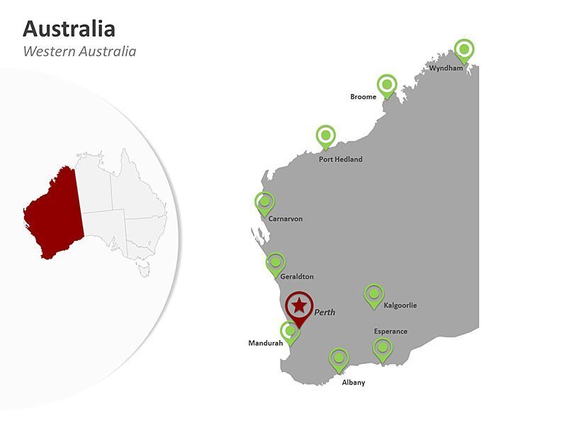 PPT Map of Australia Western Australia