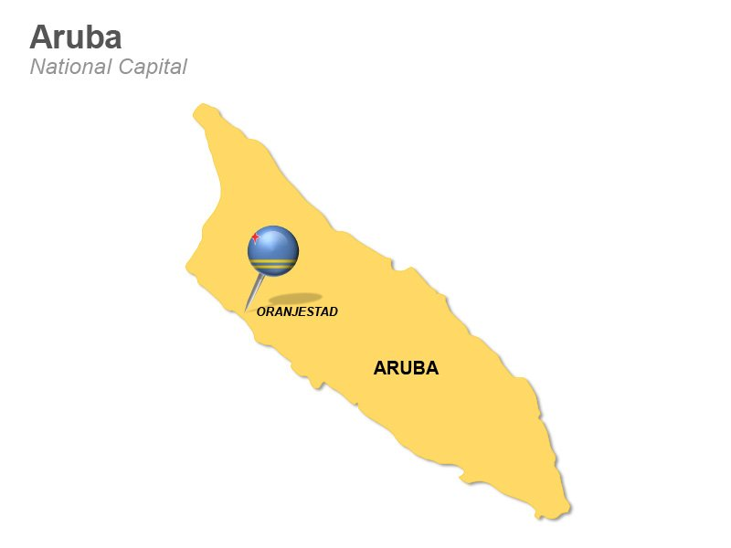 Aruba National Capital - PPT Map