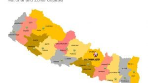 Nepal Districts Map National and Zonal Capitals PPT