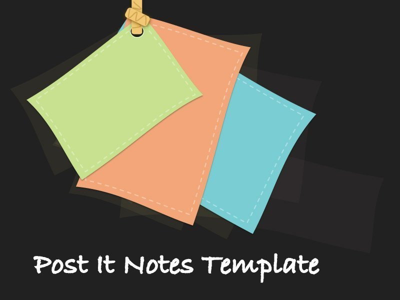 Post It Note Template for PowerPoint Presentations