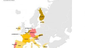Eurozone Countries PPT Map