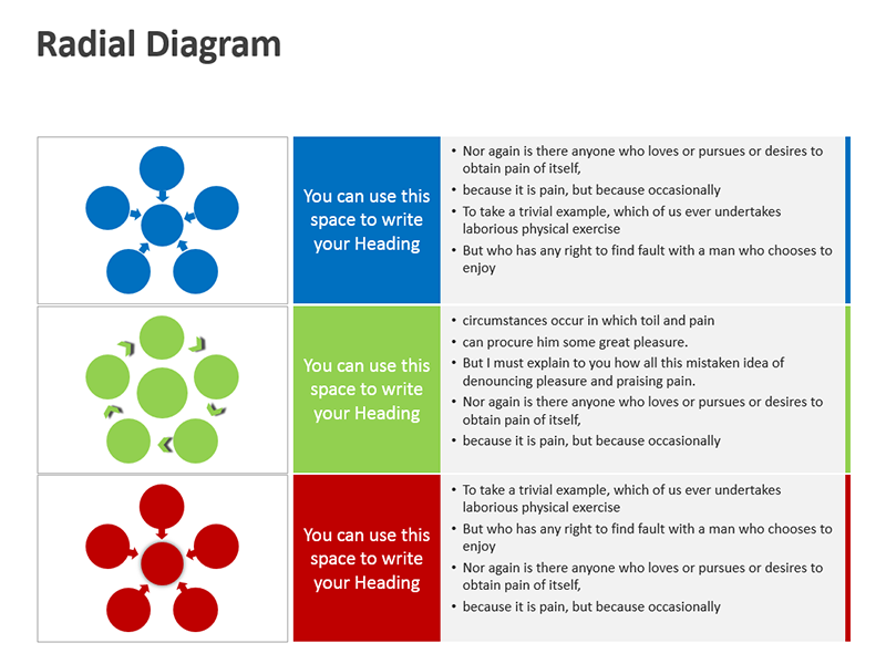 PowerPoint Slide Radial Diagrams