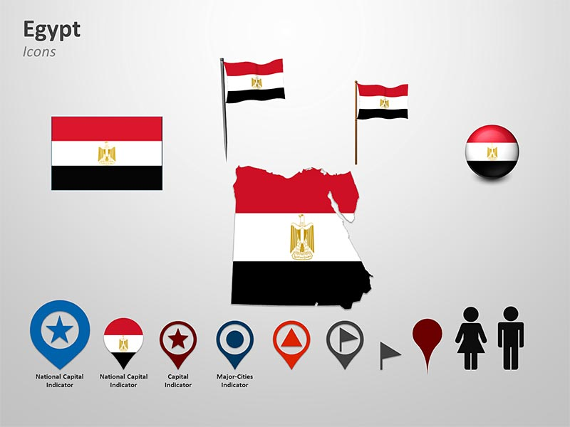 Map of Egypt PowerPoint Icons