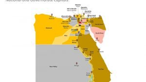Governorates Capital of Egypt PPT Map