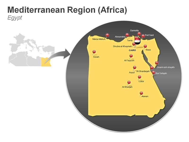 Editable PPT Template of Mediterranean Region of Egypt