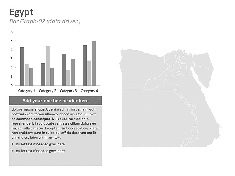 Editable PPT Graph - Egypt Map
