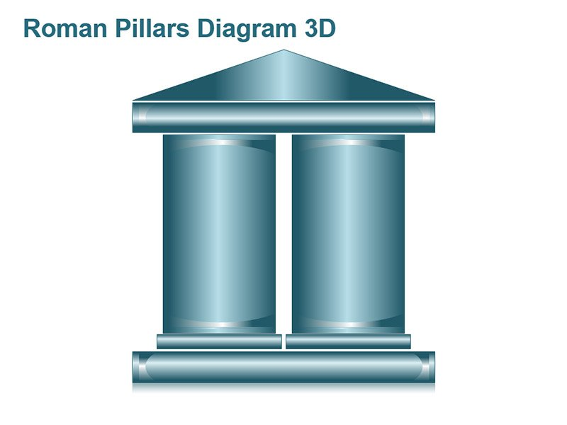 2 Pillars Diagram PPT Slides