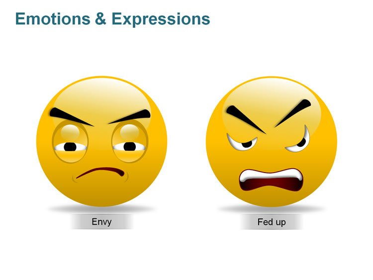 Human Expression Illustrations for PPT