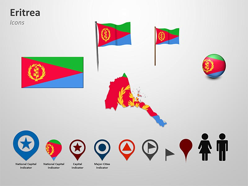 PowerPoint Eritrea Map - Cliparts