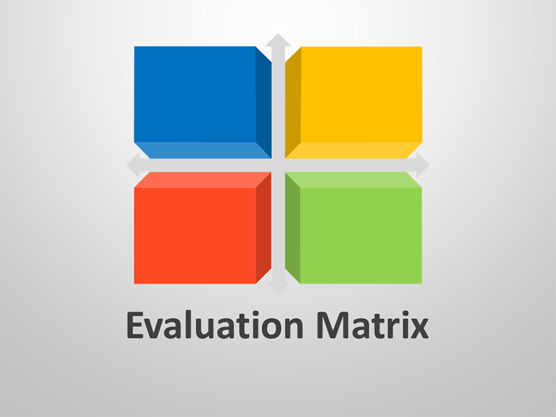 Business Evaluation Matrix - Editable PowerPoint Graphics