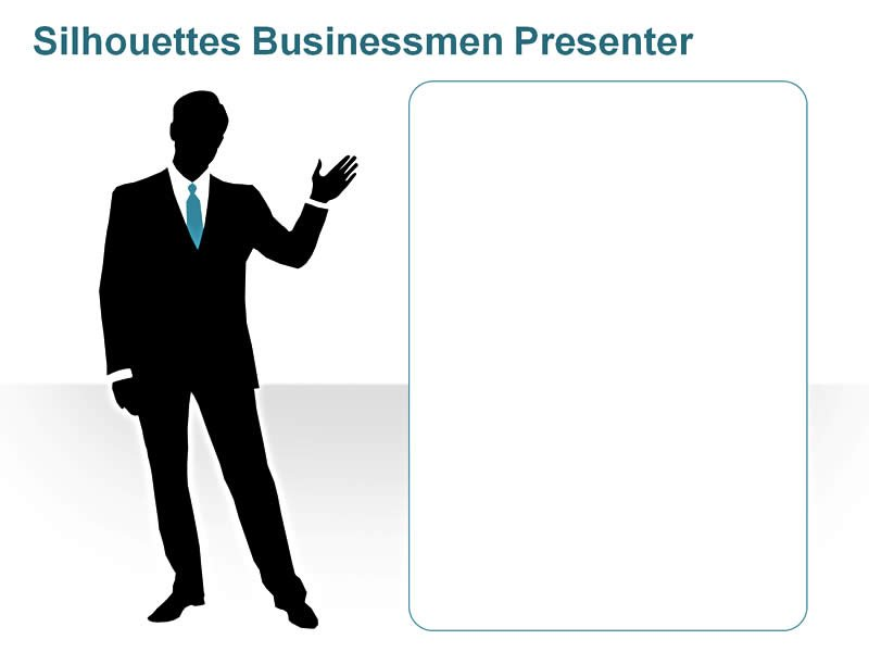 Editable PowerPoint Cliparts Silhouettes Presenter