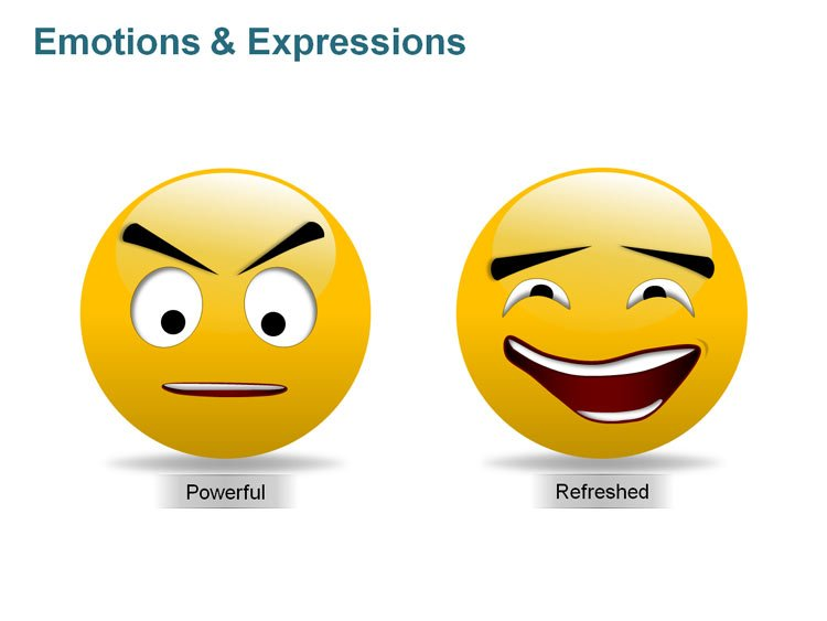 Expression Icons of Smiley PPT