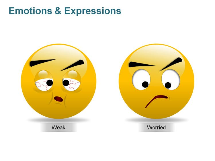 Editable Smiley with Expressions PPT