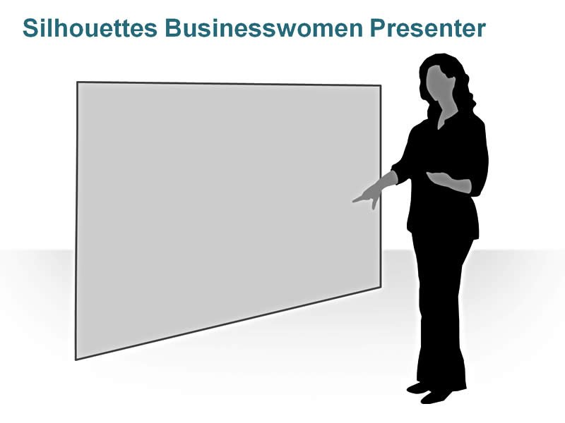 Editable PPT Slide of Silhouettes People