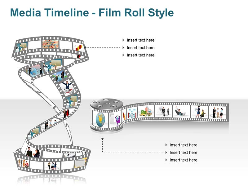 Film Roll Timeline - Vector Graphics