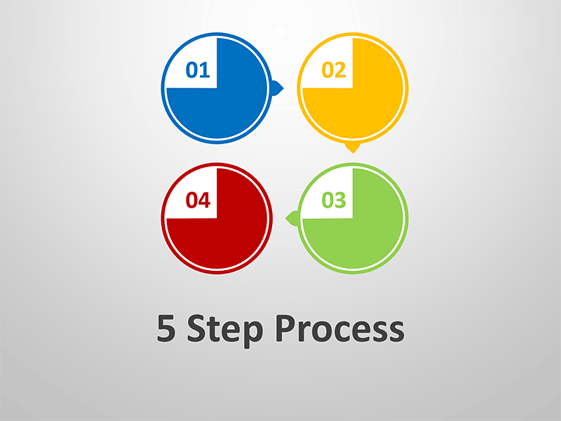 5 Step Process Diagram - Editable PowerPoint Presentation