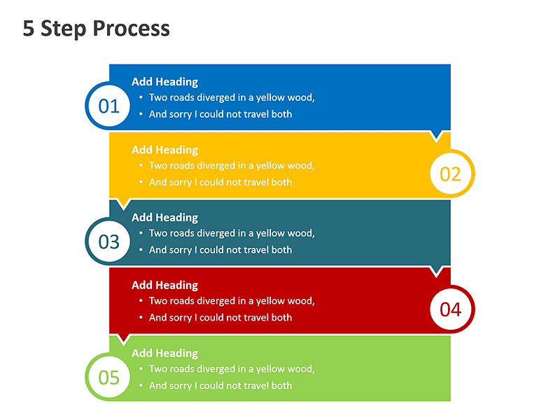 5 Steps Process Diagram - PowerPoint Slide