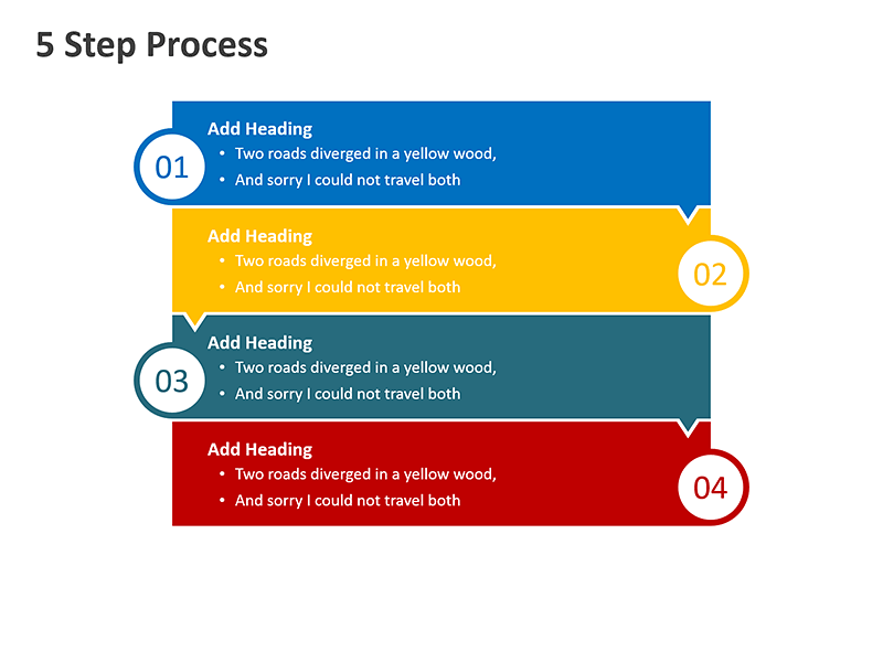 4 Step Problem Solving Process - PowerPoint Slide