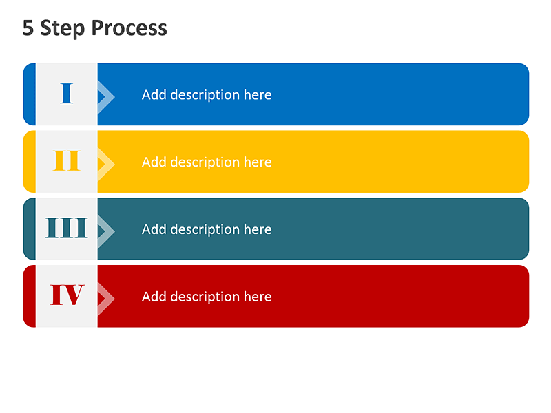 4 Step Training Process - PowerPoint Slide