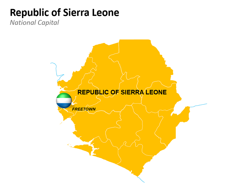 Republic of Sierra Leone Map - Editable PowerPoint Slide