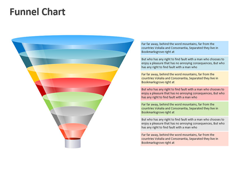 Funnel Diagram - Vector Shapes