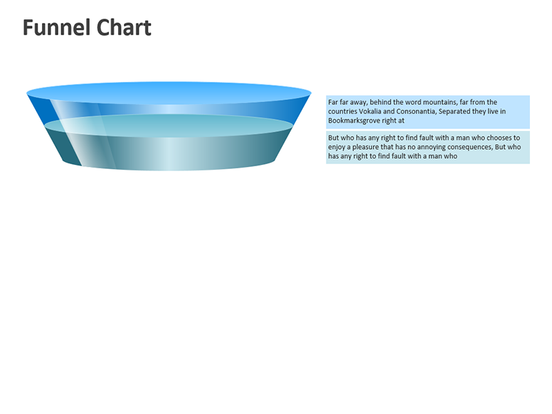 PowerPoint Funnel Chart - Digital Slide