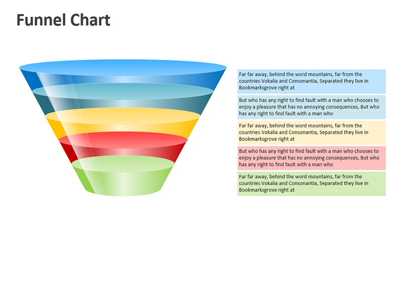 Sales Funnel Process - Editable PowerPoint Slide