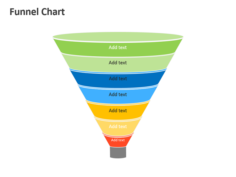 Process Funnel Diagram - Editable PowerPoint Slide