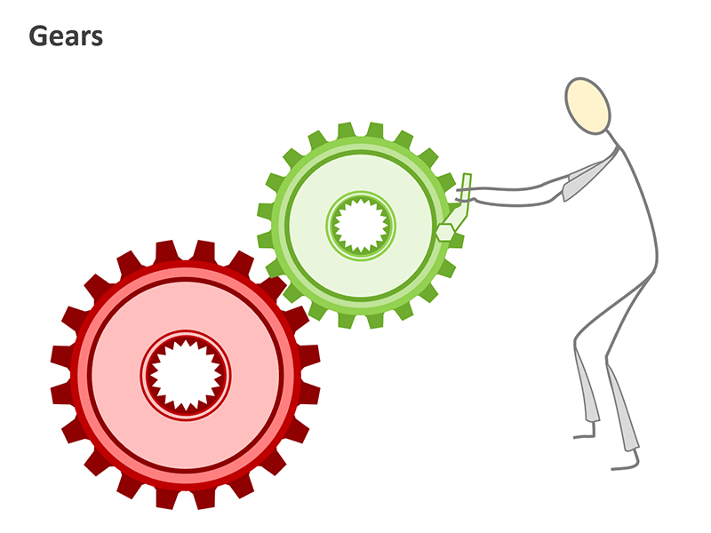 Gear Wheel Business Process Diagram - PowerPoint Slide