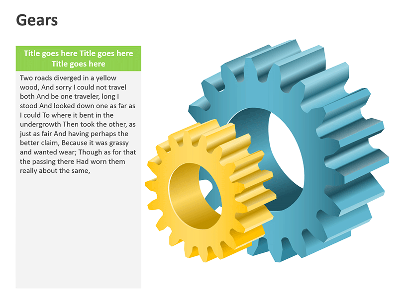 Gear Mechanical Tools - PowerPoint Slide