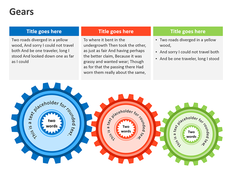 Rotating Gears - PowerPoint Slides