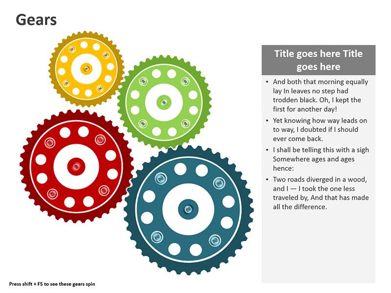 Vector Diagram - Business Gear Wheels - Animated Slide