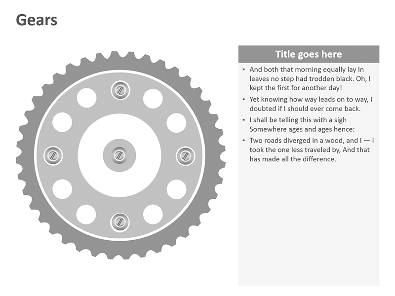 Editable Gear Illustration - PowerPoint Slide